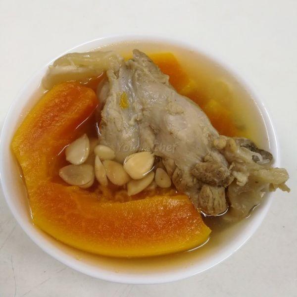 木瓜南北杏菜豬腱湯