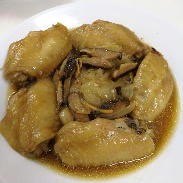 洋蔥香菇蒸雞翼