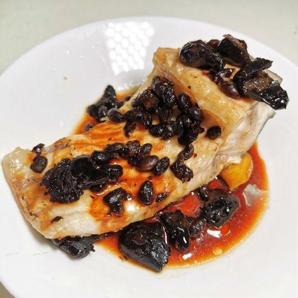 欖角豆豉蒸魚