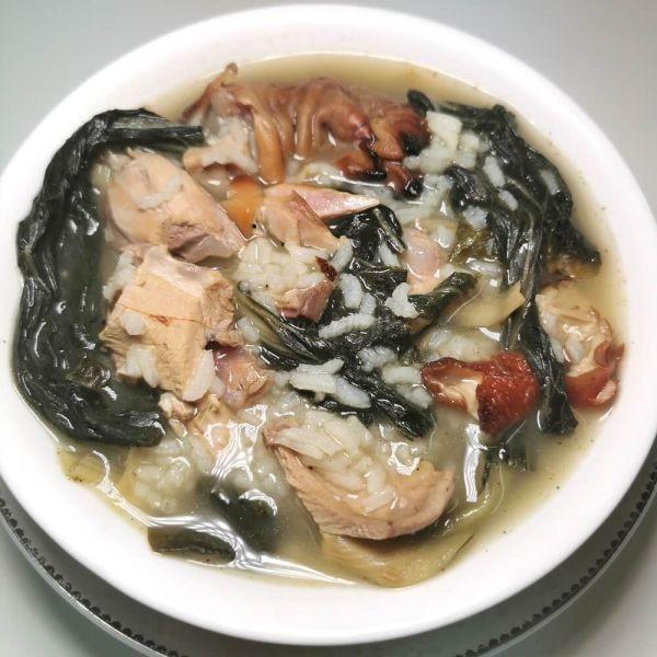 菜乾燒肉骨粥