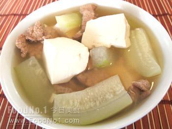 zucchini-meat-tofu-soup