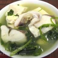 芫茜魚片豆腐湯