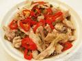 榨菜椒絲蒸豬肉青雞