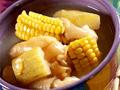 節瓜,玉米,花膠煲豬展