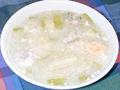 節瓜鹹蛋肉片湯