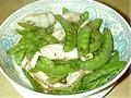 荷豆炒鮮魷