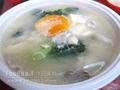 時菜肉片咸蛋豆腐湯
