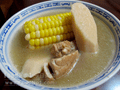 鮮淮山栗米瘦肉湯